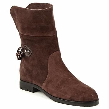 Zapatos Mujer Botas de caña baja Marc Jacobs CHAIN BOOTS Marrón