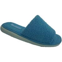 Zapatos Mujer Pantuflas Andinas Chancla toalla de puntera abierta toalla azul