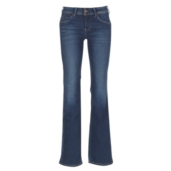 textil Mujer vaqueros bootcut Pepe jeans PIMLICO Ca0 / Azul / Oscuro