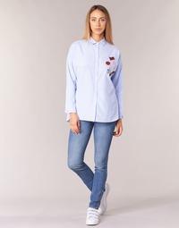 textil Mujer vaqueros slim Pepe jeans GLADIS Ga7 / Azul / Claro