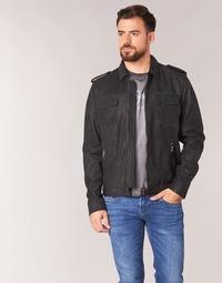 textil Hombre Chaquetas de cuero / Polipiel Pepe jeans NARCISO Negro