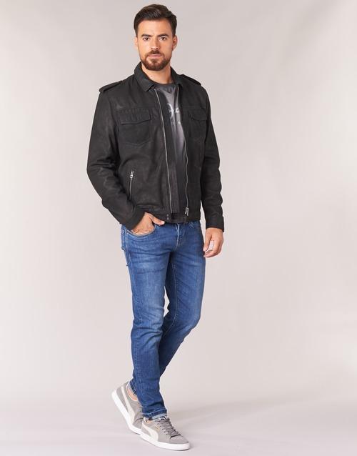 Jeans Narciso Textil Chaquetas Hombre CueroPolipiel De Pepe Negro QdhrCtsx