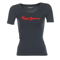 textil Mujer camisetas manga corta Pepe jeans MARIA Negro