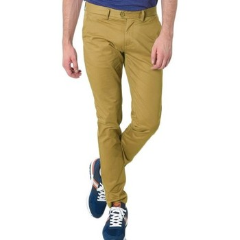 textil Hombre pantalones chinos Kebello Camel beige
