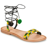 Zapatos Mujer Sandalias Lola Espeleta EDWINA Verde / Amarillo / Negro