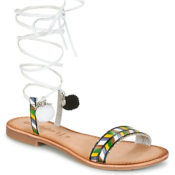 Zapatos Mujer Sandalias Lola Espeleta EDWINA Verde / Plata