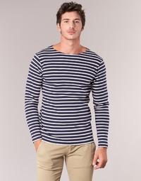 textil Hombre Camisetas manga larga Armor Lux GELGA Marino / Blanco