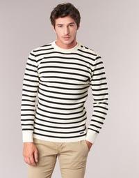 textil Hombre jerséis Armor Lux GROIM Blanco / Marino