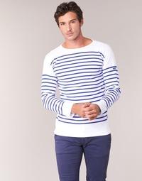 textil Hombre Camisetas manga larga Armor Lux DISJON Blanco / Azul