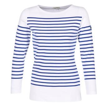 textil Mujer Camisetas manga larga Armor Lux ROADY Blanco / Azul