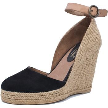 Zapatos Mujer Sandalias Mtbali Sandalia Alpargata con cuña, Mujer - Modelo Altea Black negro