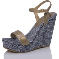 Zapatos Mujer Sandalias Mtbali Sandalia  con cuña, Mujer - Modelo Atenas azul