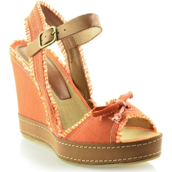 Zapatos Mujer Sandalias Mtbali Sandalia con cuña, Mujer - Modelo San Diego naranja