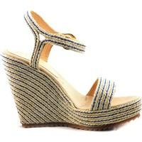 Zapatos Mujer Sandalias Mtbali Sandalia Alpargata con cuña, Mujer - Modelo Yute beige
