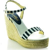 Zapatos Mujer Sandalias Mtbali Sandalia Alpargata con cuña, Mujer - Modelo Sunny azul