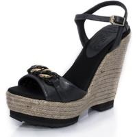 Zapatos Mujer Sandalias Mtbali Sandalia Alpargata con cuña, Mujer - Modelo Dubai negro