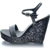 Zapatos Mujer Sandalias Mtbali Sandalia con cuña, Mujer - Modelo Glam Noir negro