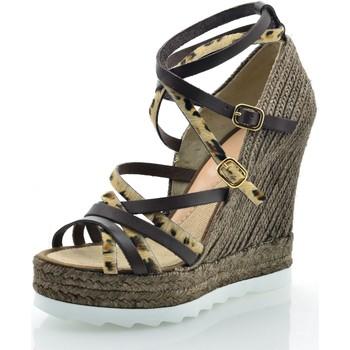 Zapatos Mujer Sandalias Mtbali Sandalia Alpargata con cuña, Mujer - Modelo Pantera marrón