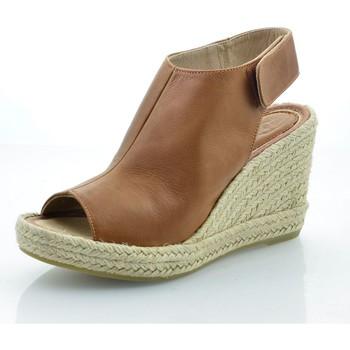 Zapatos Mujer Sandalias Mtbali Sandalia Alpargata con cuña, Mujer - Modelo Lion marrón
