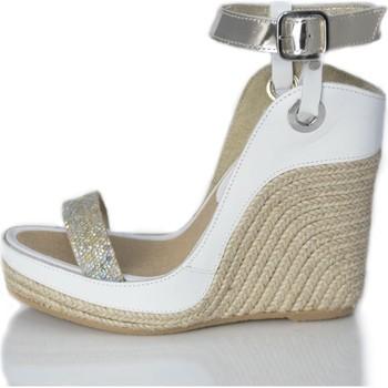 Zapatos Mujer Sandalias Mtbali Sandalia Alpargata con cuña, Mujer - Modelo Nor White blanco