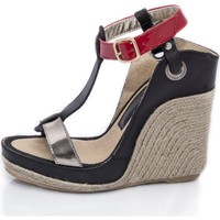 Zapatos Mujer Sandalias Mtbali Sandalia Alpargata con cuña, Mujer - Modelo Nor Red rojo