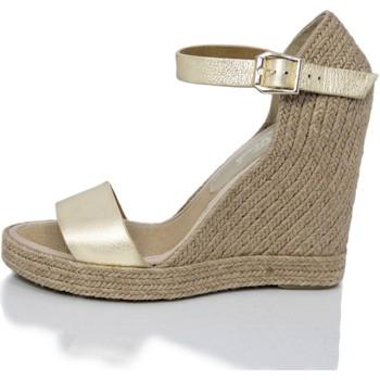 Zapatos Mujer Sandalias Mtbali Sandalia Alpargata con cuña, Mujer - Modelo Oceanside Platine oro