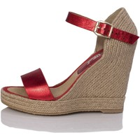 Zapatos Mujer Sandalias Mtbali Sandalia Alpargata con cuña, Mujer - Modelo Oceanside Red rojo