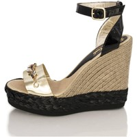 Zapatos Mujer Sandalias Mtbali Sandalia Alpargata con cuña, Mujer - Modelo Savane Glam oro