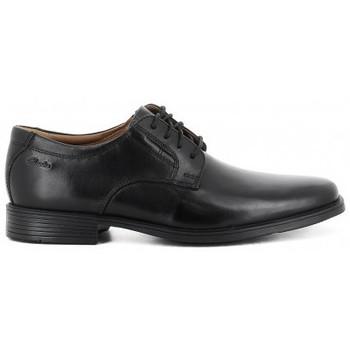 Zapatos Hombre Derbie Clarks TILDEN PLAIN Noir