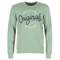 textil Hombre sudaderas Jack & Jones SWEEP ORIGINALS Verde