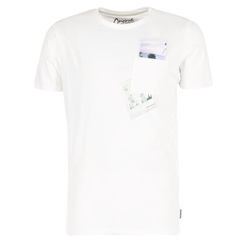 textil Hombre camisetas manga corta Jack & Jones CHECK ORIGINALS Blanco