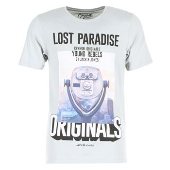 textil Hombre camisetas manga corta Jack & Jones FASTER ORIGINALS Gris