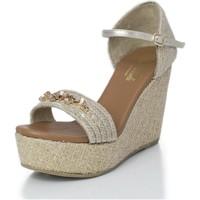 Zapatos Mujer Sandalias Mtbali Sandalia Alpargata con cuña, Mujer - Modelo Paris Star beige