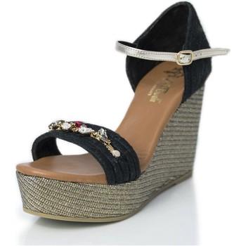 Zapatos Mujer Sandalias Mtbali Sandalia Alpargata con cuña, Mujer - Modelo Paris Glam negro