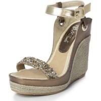 Zapatos Mujer Sandalias Mtbali Sandalia Alpargata con cuña, Mujer - Modelo Nor Glamour plata