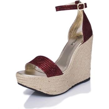 Zapatos Mujer Sandalias Mtbali Sandalia Alpargata con cuña, Mujer - Modelo Bahamas Red rojo