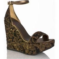 Zapatos Mujer Sandalias Mtbali Sandalia Alpargata con cuña, Mujer - Modelo Beverly Black negro