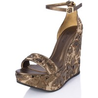 Zapatos Mujer Sandalias Mtbali Sandalia Alpargata con cuña, Mujer - Modelo Beverly Moka marrón