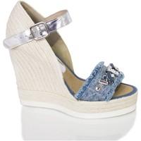 Zapatos Mujer Sandalias Mtbali Sandalia Alpargata con cuña, Mujer - Modelo Malibu azul