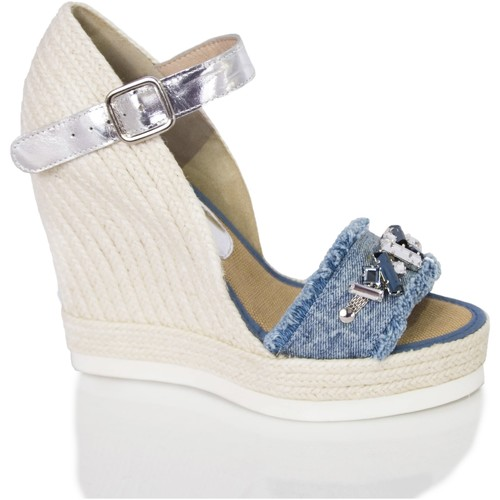 dfc5e507 Zapatos Mujer Sandalias Mtbali Sandalia Alpargata con cuña, Mujer - Modelo  Malibu azul