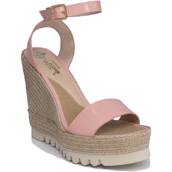 Zapatos Mujer Sandalias Mtbali Sandalia Alpargata con cuña, Mujer - Modelo Santa Rosa rosa