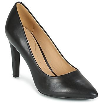 Zapatos Mujer Zapatos de tacón Geox D CAROLINE C - NAPPA Negro