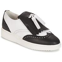Zapatos Mujer Mocasín Geox D THYMAR C - NAPPA Blanco / Negro