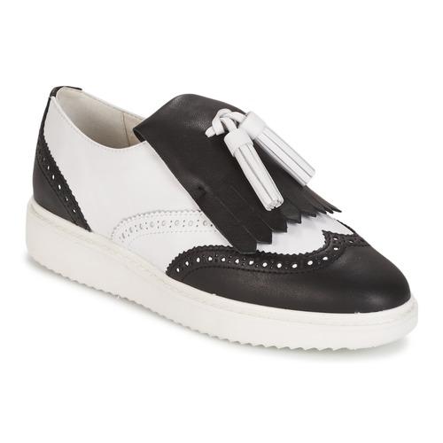 Zapatos promocionales Geox D THYMAR C - NAPPA Blanco / Negro  Zapatos de mujer baratos zapatos de mujer