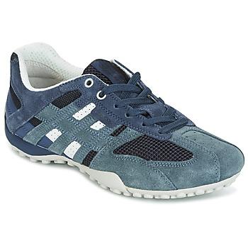 Zapatos Mujer Zapatillas bajas Geox U SNAKE K - SCAM.+MESH Azul