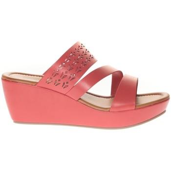 Zapatos Mujer Sandalias Vera & Lucy Sandale Compensé  Rouge 78-35 Rojo