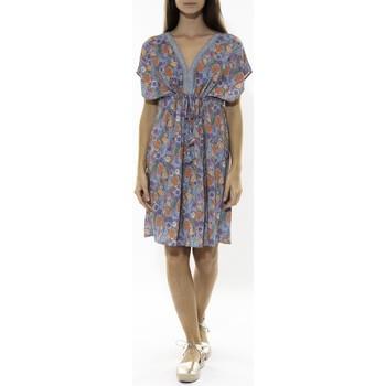 textil Mujer Vestidos cortos Jad Robe Grenadine Bleu Azul