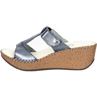 Zapatos Mujer Zuecos (Mules) Ellerre 6320 Chancla Mujer Azul Azul