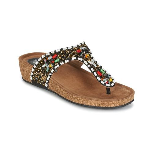 Zapatos Mujer Sandalias Metamorf'Ose ZABUSTE Negro / Multicolor