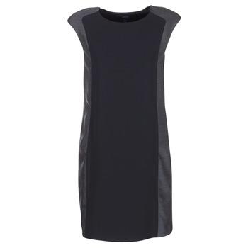 textil Mujer Vestidos cortos Armani jeans LAMIC Negro / Gris